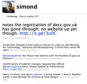 Simon Dickson's Twitter feed